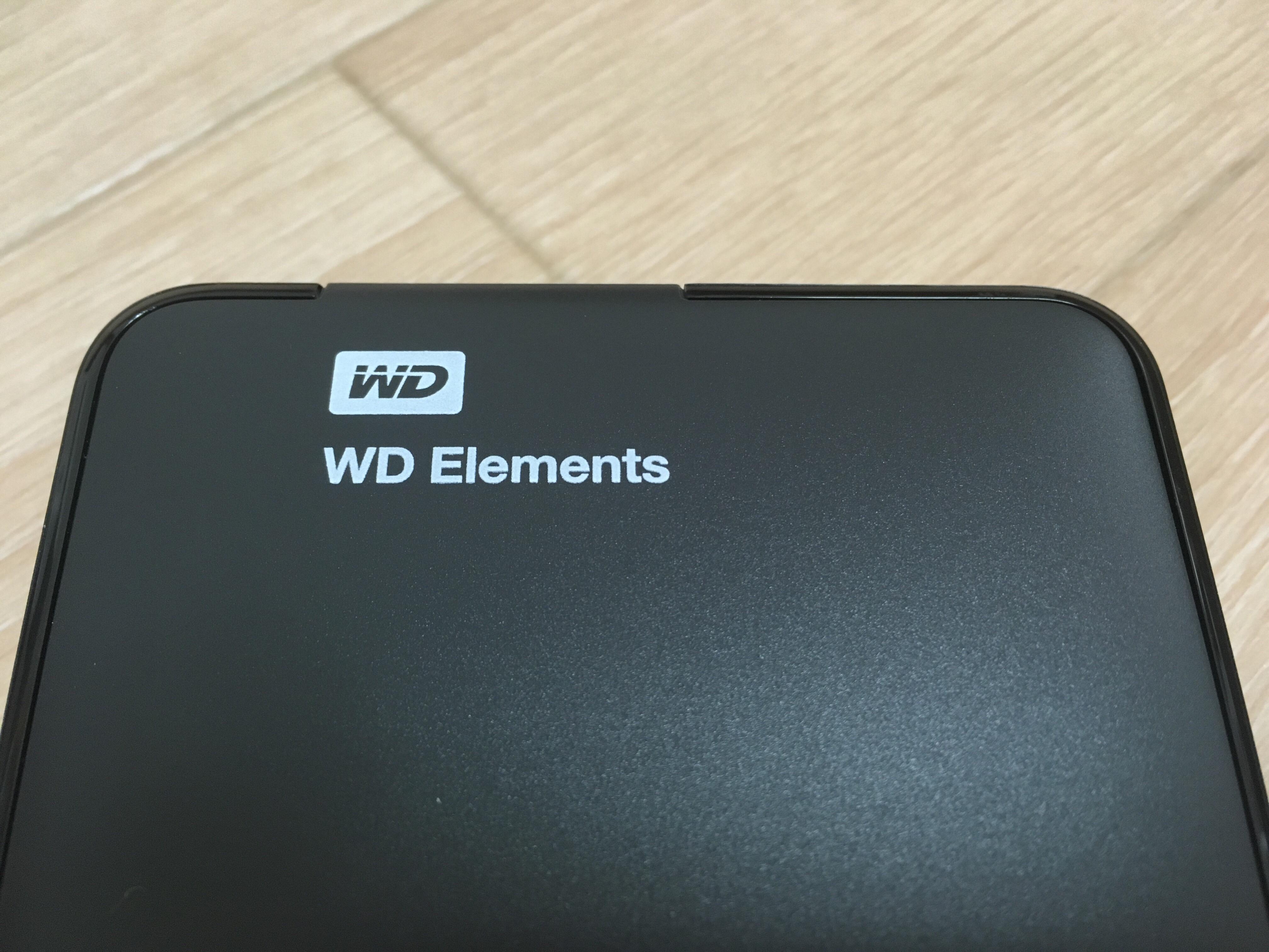 外付けポータブルHDD「WD Elements」が届きました!想像以上にコンパクトサイズ!